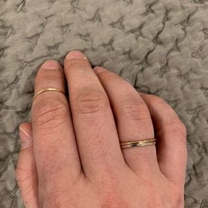 ABLE stackable rings, set of 3, sizes 5&6
